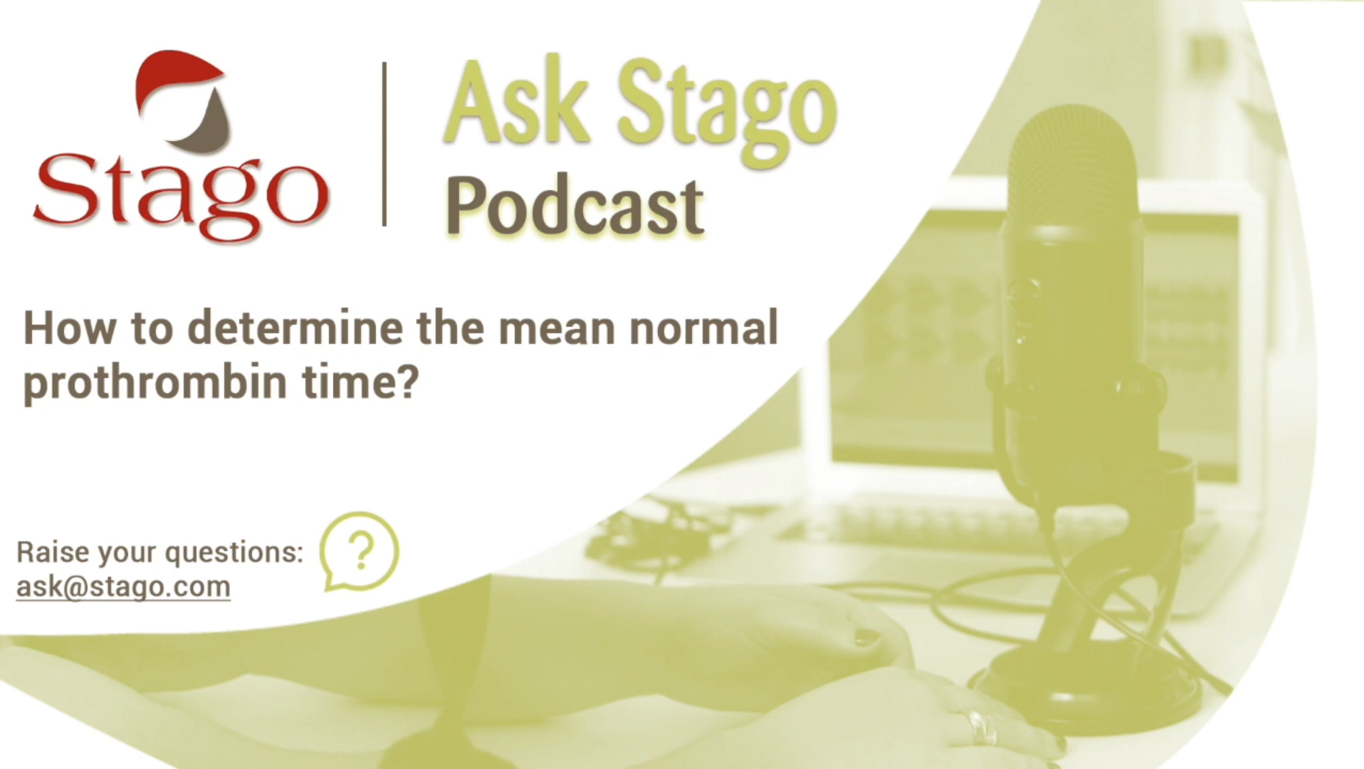 """Рубрика """"Спроси Stago"""" - Как определить среднее нормальное ПВ?"""