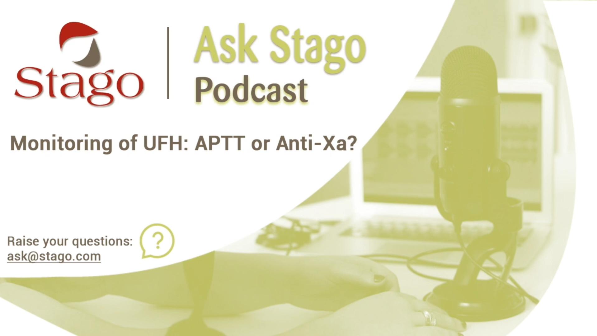 """Рубрика """"Спроси Stago"""" - Мониторинг терапии нефракционированным гепарином, АЧТВ или анти-Ха активность?"""